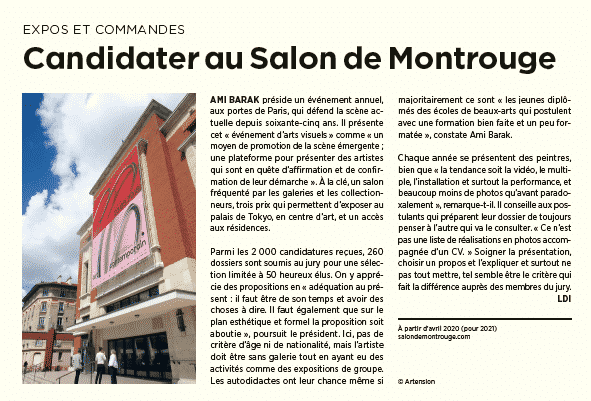 Candidater au Salon de Montrouge